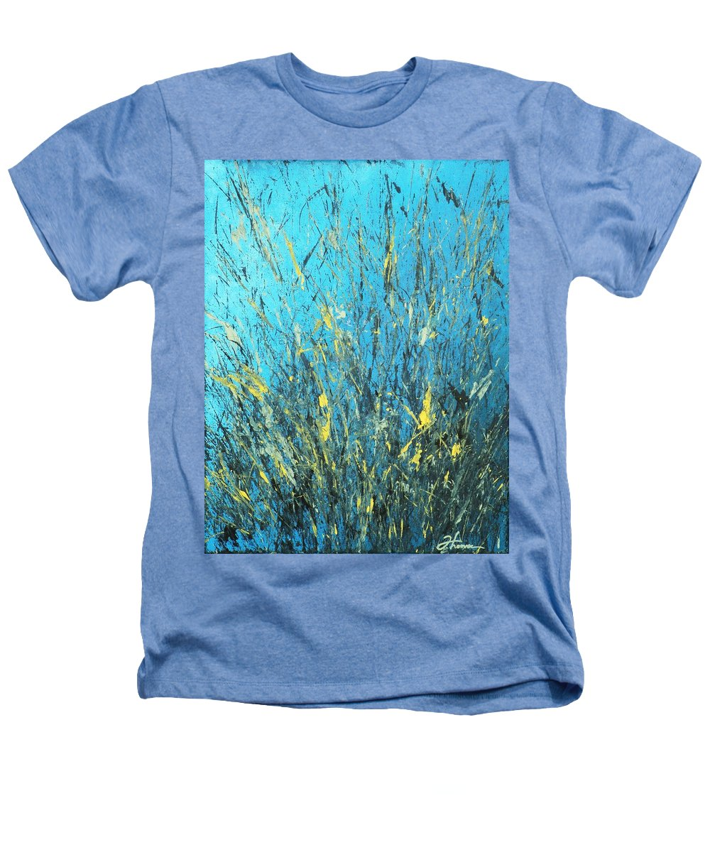 Splash Heathers T-Shirt featuring the painting Awakening by Todd Hoover