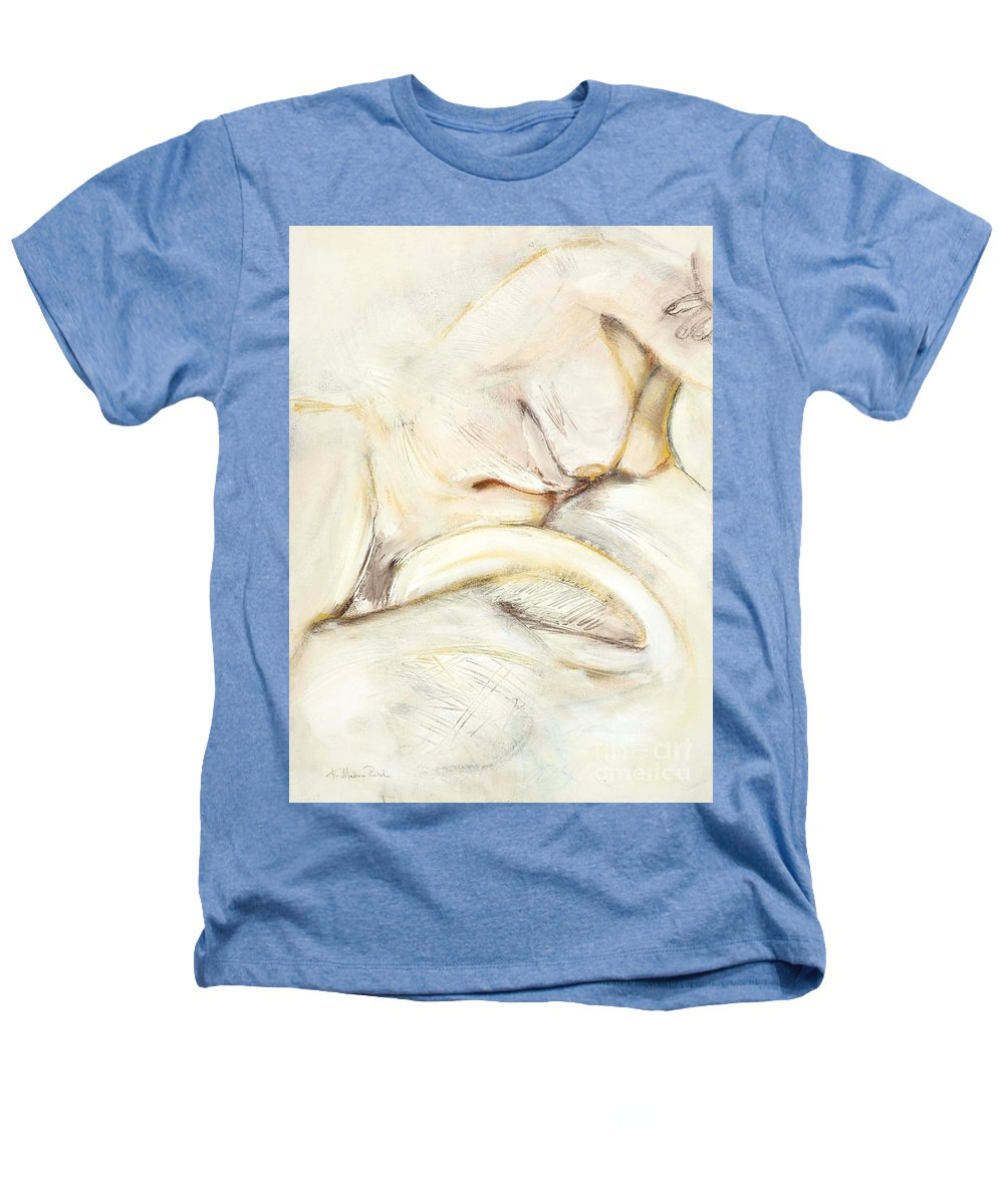 Female Heathers T-Shirt featuring the drawing Award Winning Abstract Nude by Kerryn Madsen-Pietsch