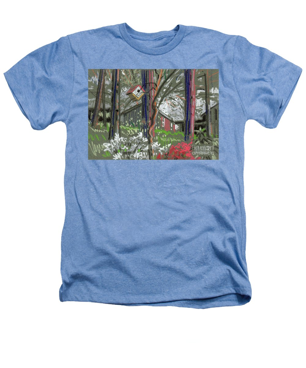 Azalea Heathers T-Shirt featuring the drawing Azaleas In Spring by Donald Maier