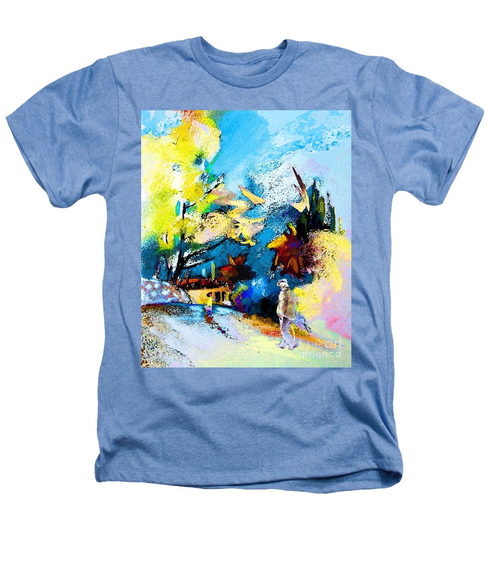 Pastel Painting Heathers T-Shirt featuring the painting Back Home by Miki De Goodaboom