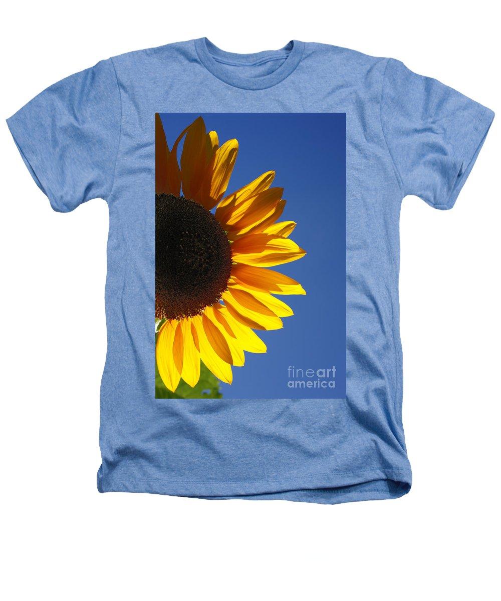 Back Light Heathers T-Shirt featuring the photograph Backlit Sunflower by Gaspar Avila