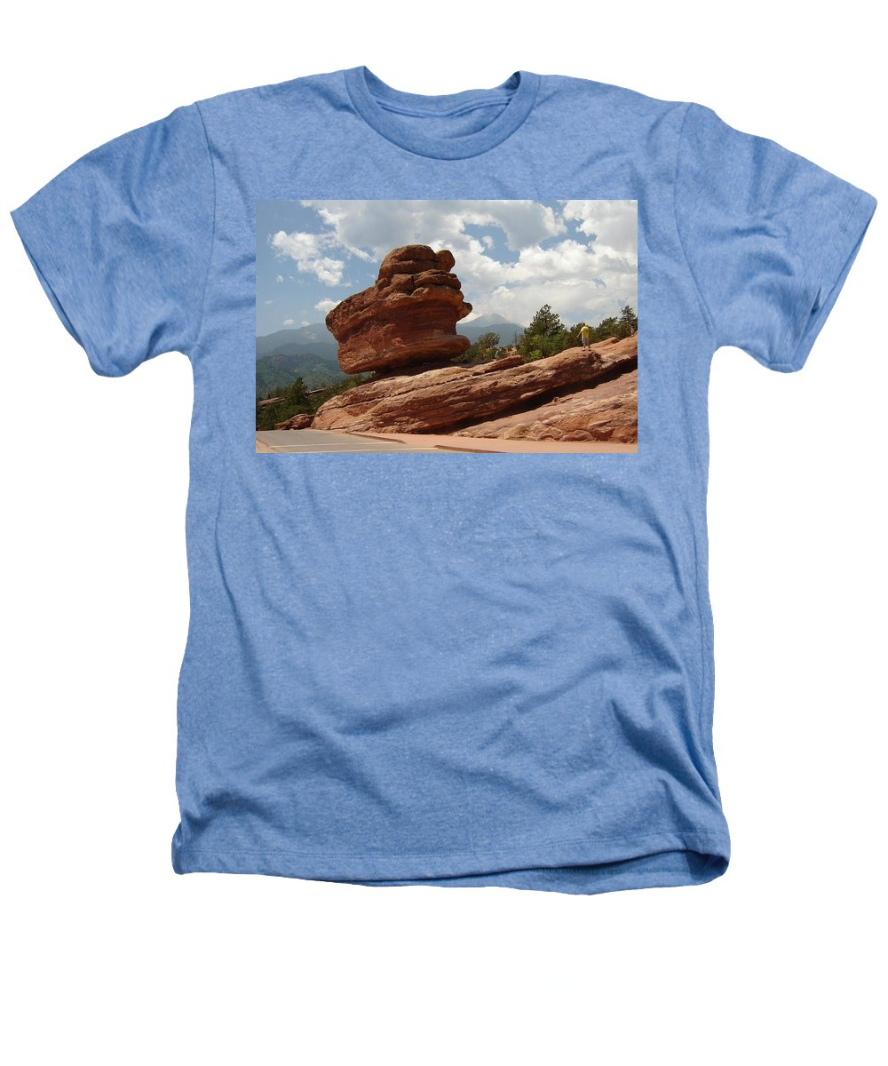 Colorado Heathers T-Shirt featuring the photograph Balance Rock by Anita Burgermeister