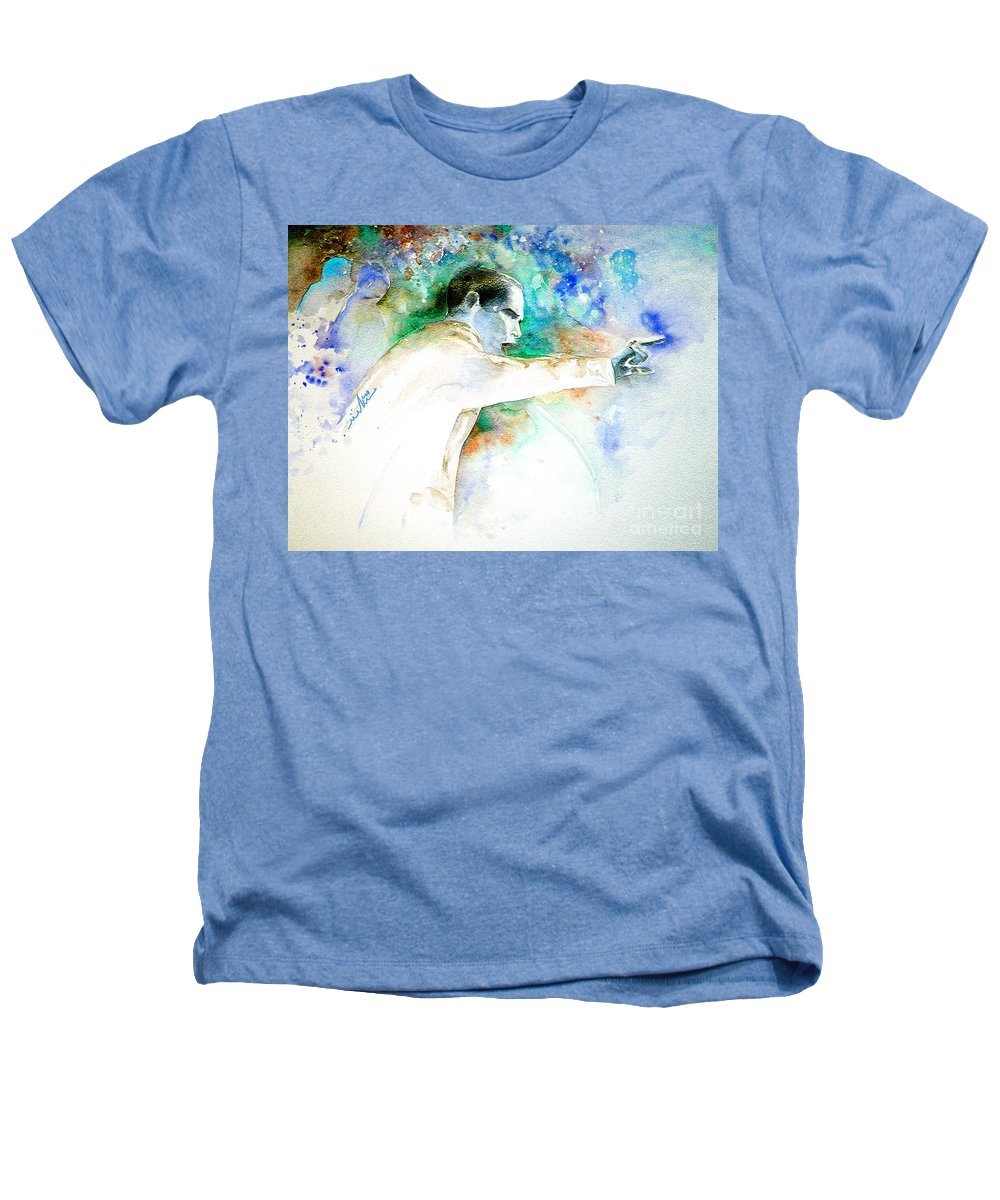 Portrait Barack Obama Heathers T-Shirt featuring the painting Barack Obama Pointing At You by Miki De Goodaboom