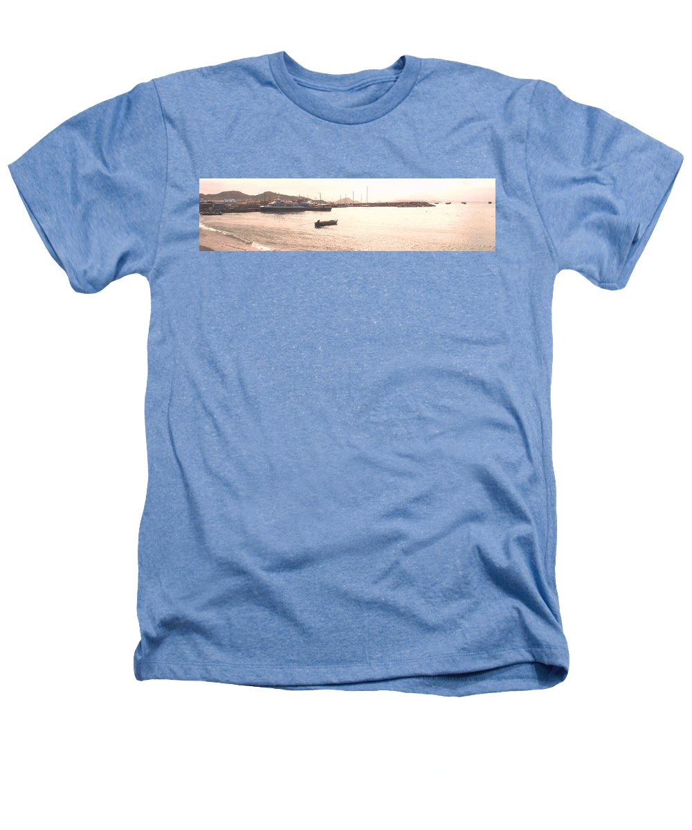 St Kitts Heathers T-Shirt featuring the photograph Basseterre Harbour by Ian MacDonald