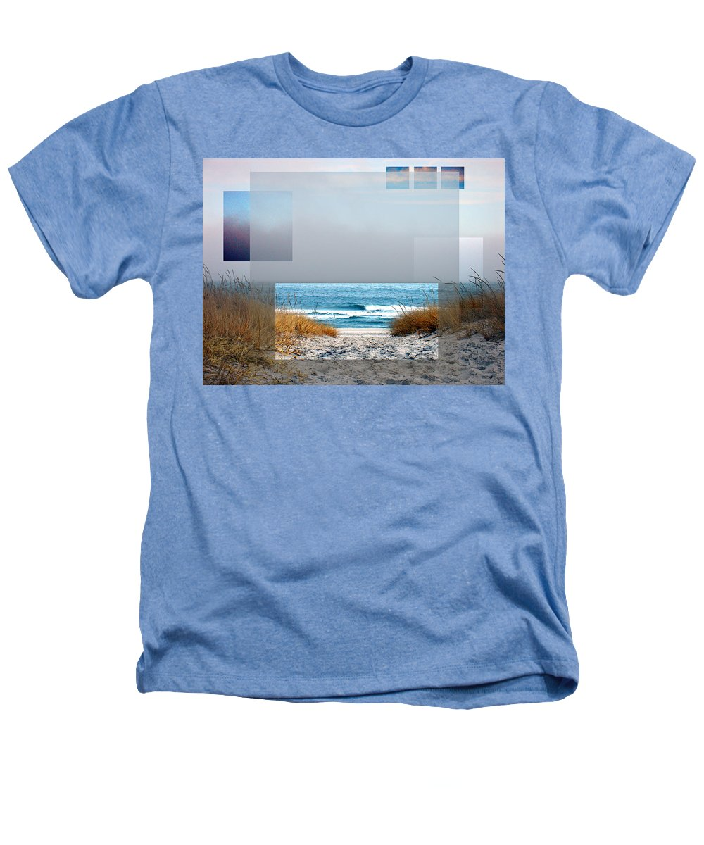 Beach Heathers T-Shirt featuring the photograph Beach Collage by Steve Karol