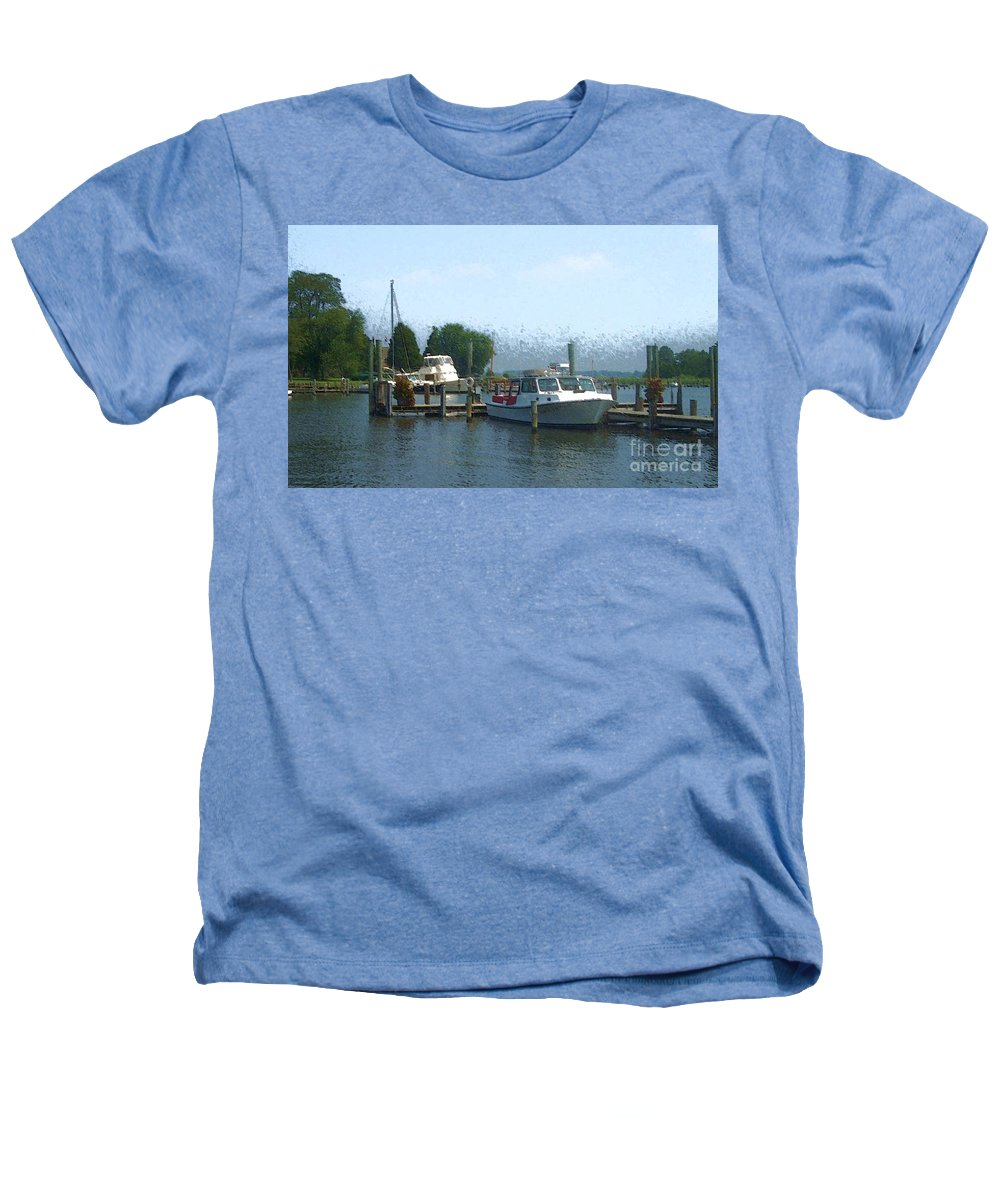 Boat Heathers T-Shirt featuring the photograph Beached Buoys by Debbi Granruth