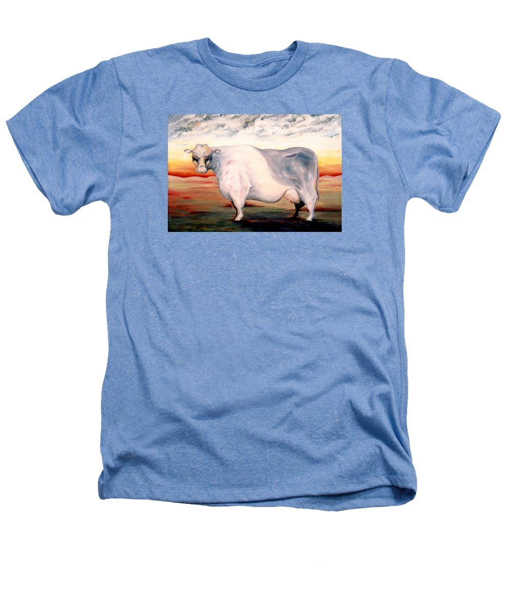 Cow Heathers T-Shirt featuring the painting Beef Holocaust II by Mark Cawood