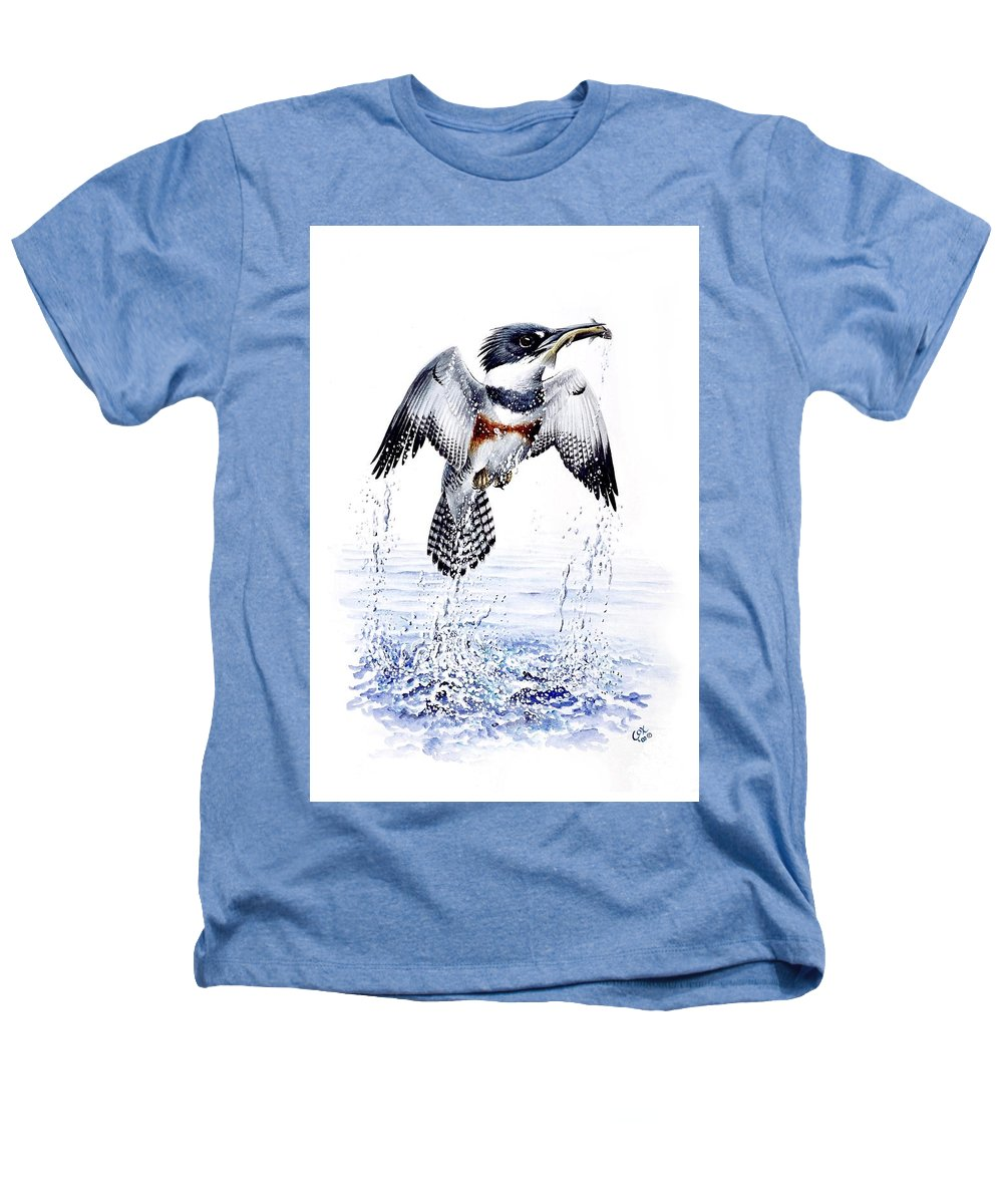 Chris Cox Heathers T-Shirt featuring the painting Belted Kingfisher by Christopher Cox
