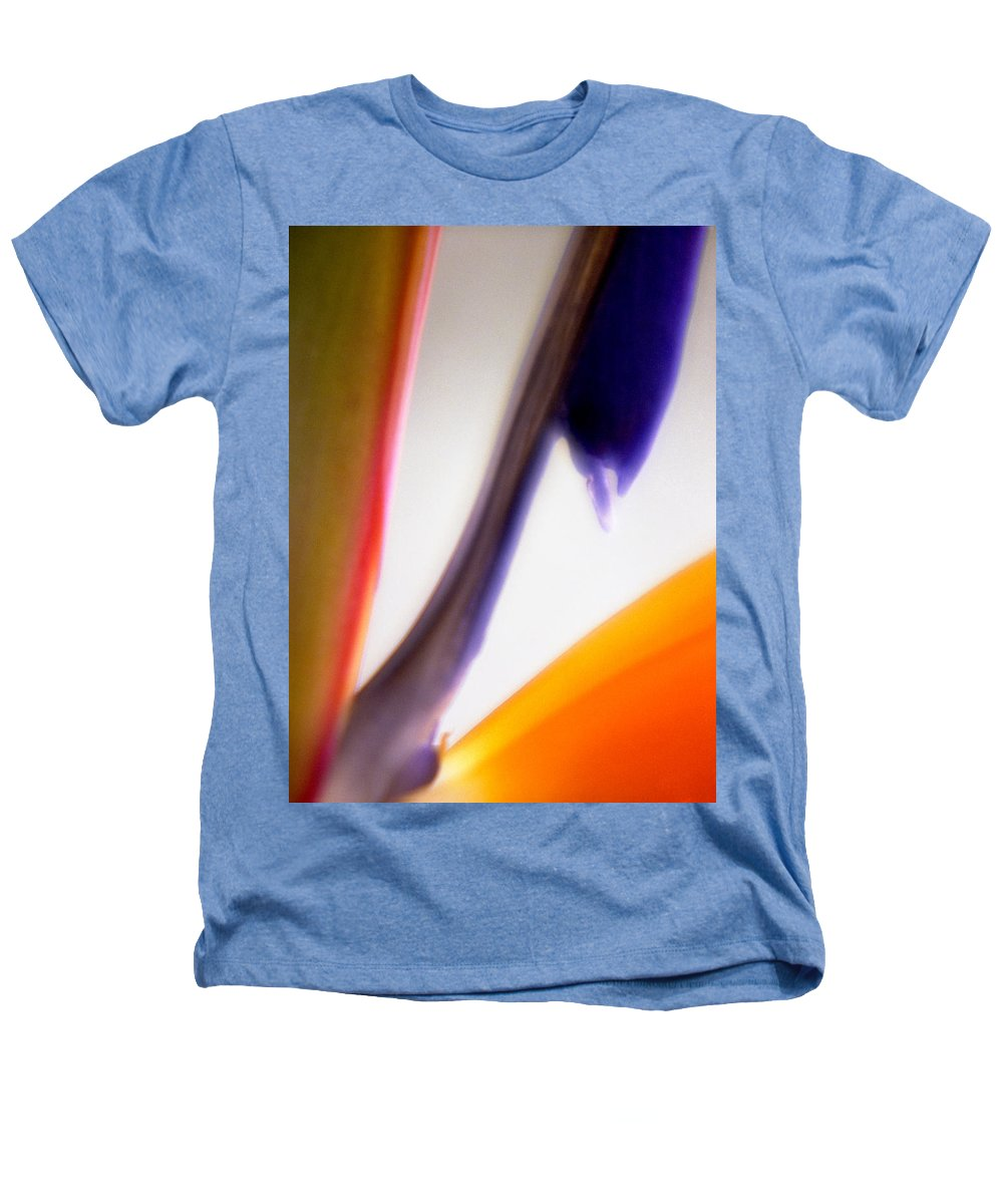 Macro Heathers T-Shirt featuring the photograph Bird Of Paradise by Lee Santa
