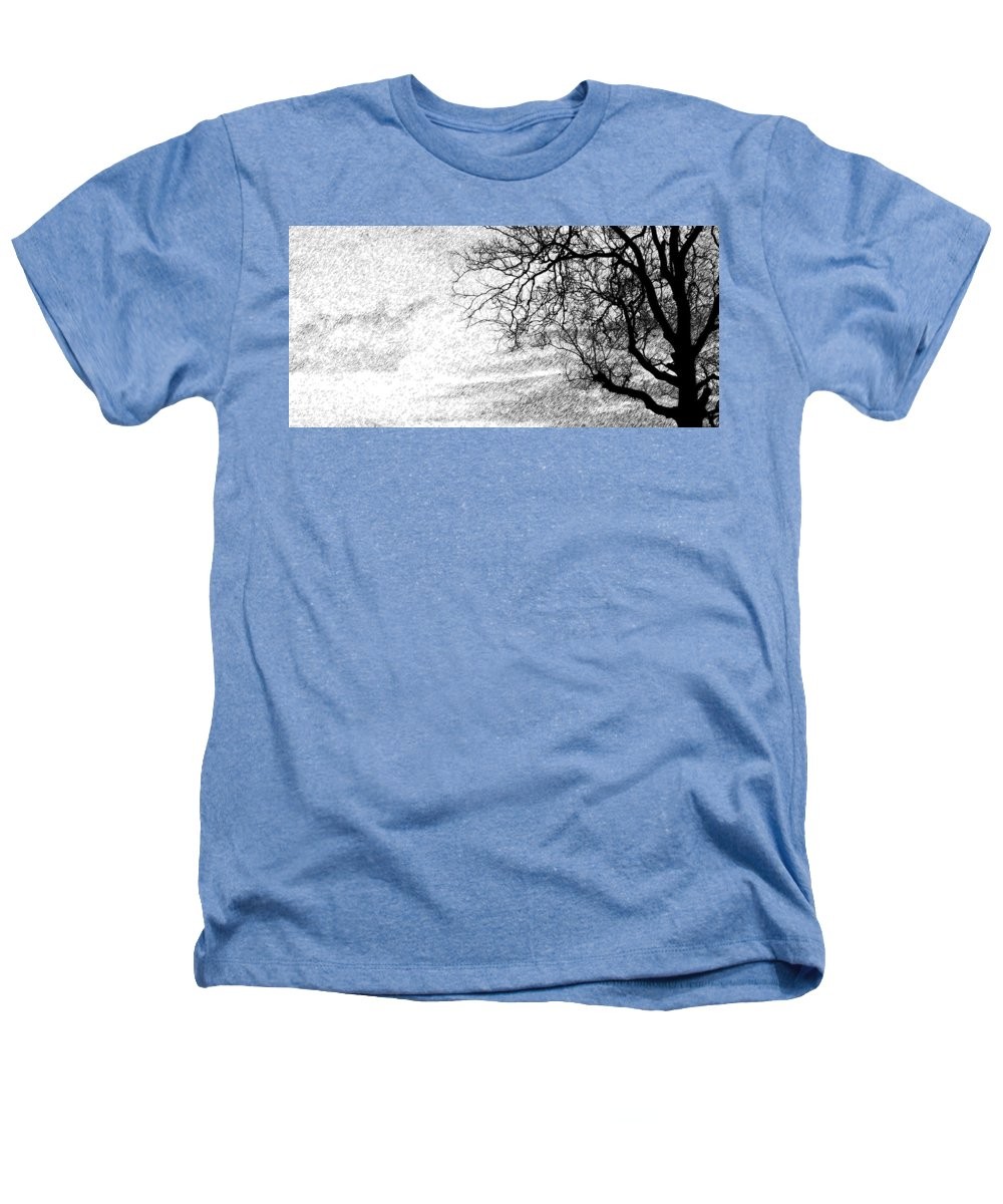 Sky Heathers T-Shirt featuring the photograph Black Rain by Ed Smith