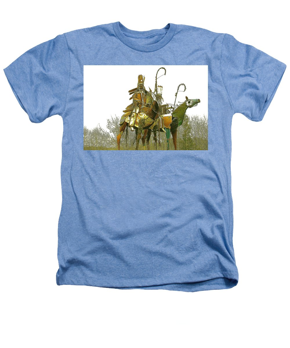 Native American Heathers T-Shirt featuring the photograph Blackfeet Wariors by Nelson Strong