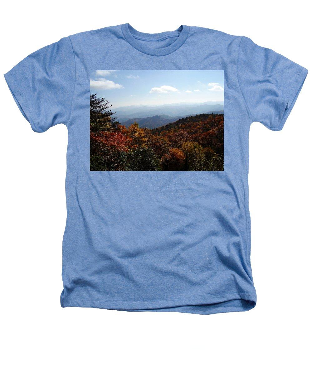 Blue Ridge Mountains Heathers T-Shirt featuring the photograph Blue Ridge Mountains by Flavia Westerwelle