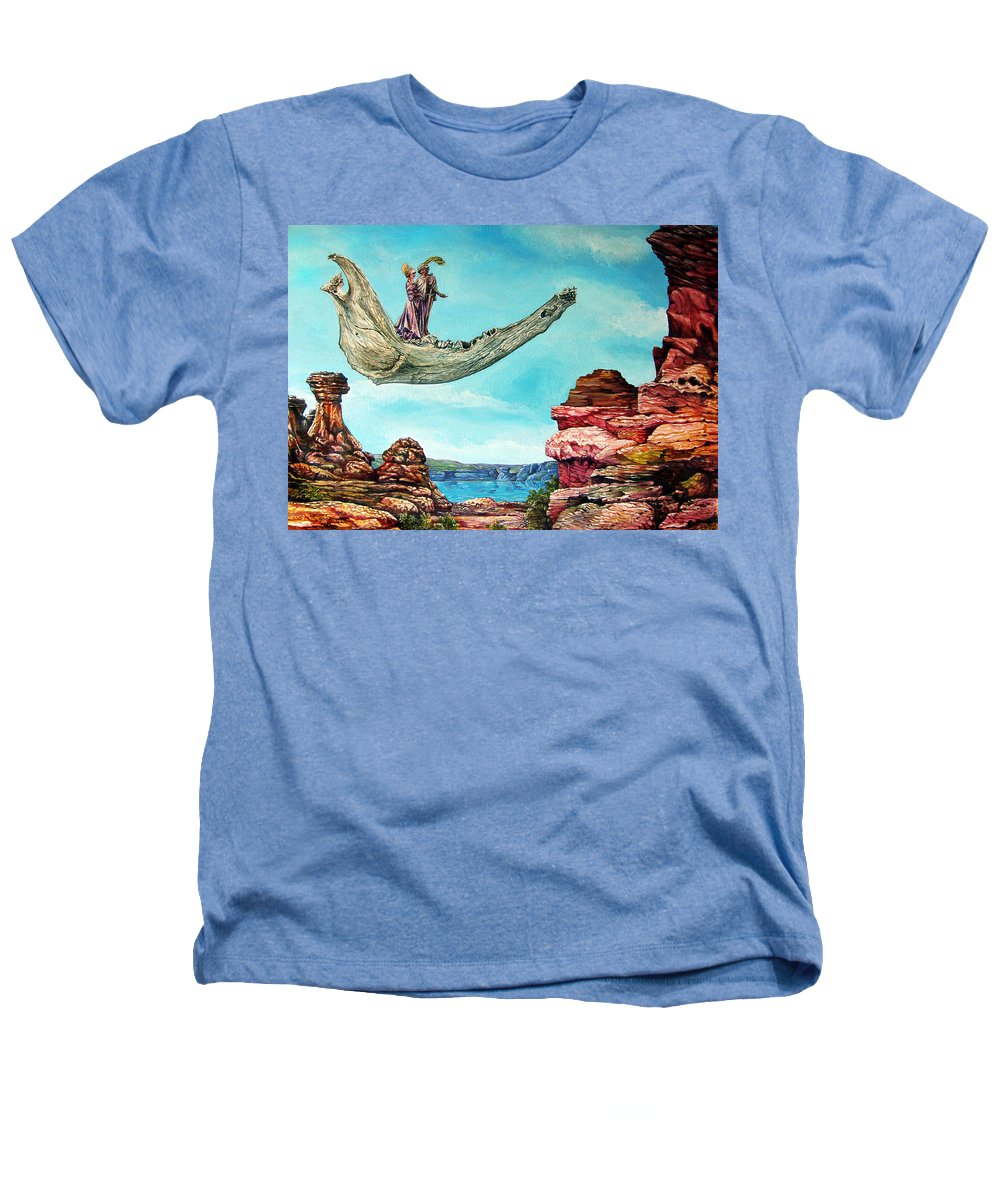 Painting Heathers T-Shirt featuring the painting Bogomils Journey by Otto Rapp