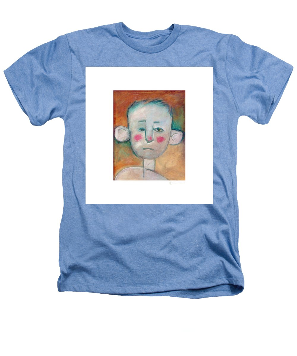 Boy Heathers T-Shirt featuring the painting Boy by Tim Nyberg