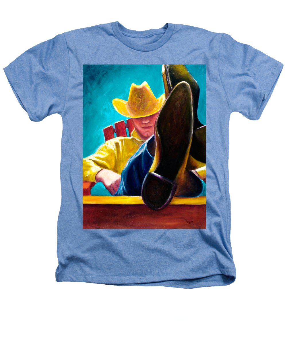 Western Heathers T-Shirt featuring the painting Break Time by Shannon Grissom