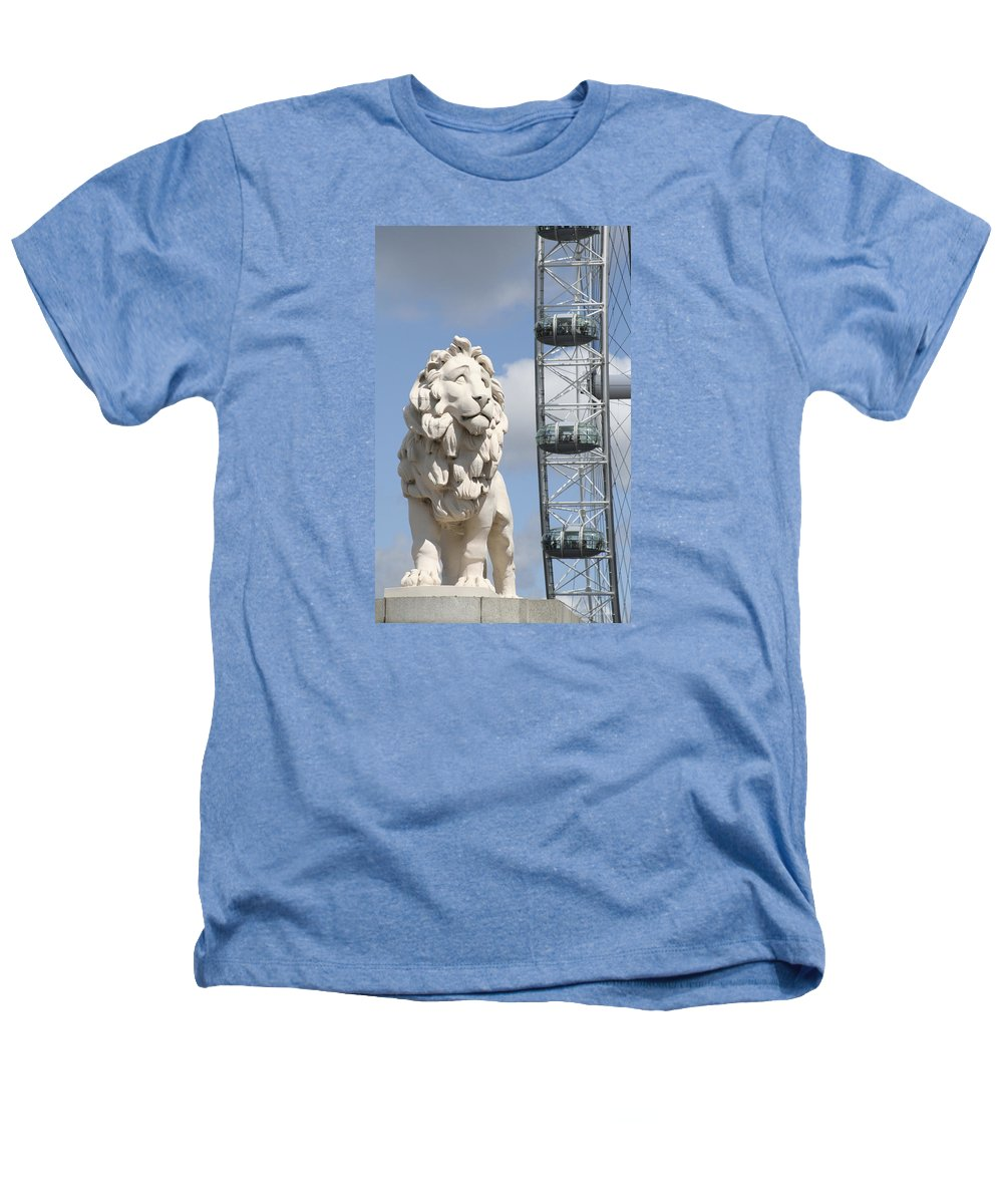 Lion Heathers T-Shirt featuring the photograph Britannia Lion by Margie Wildblood