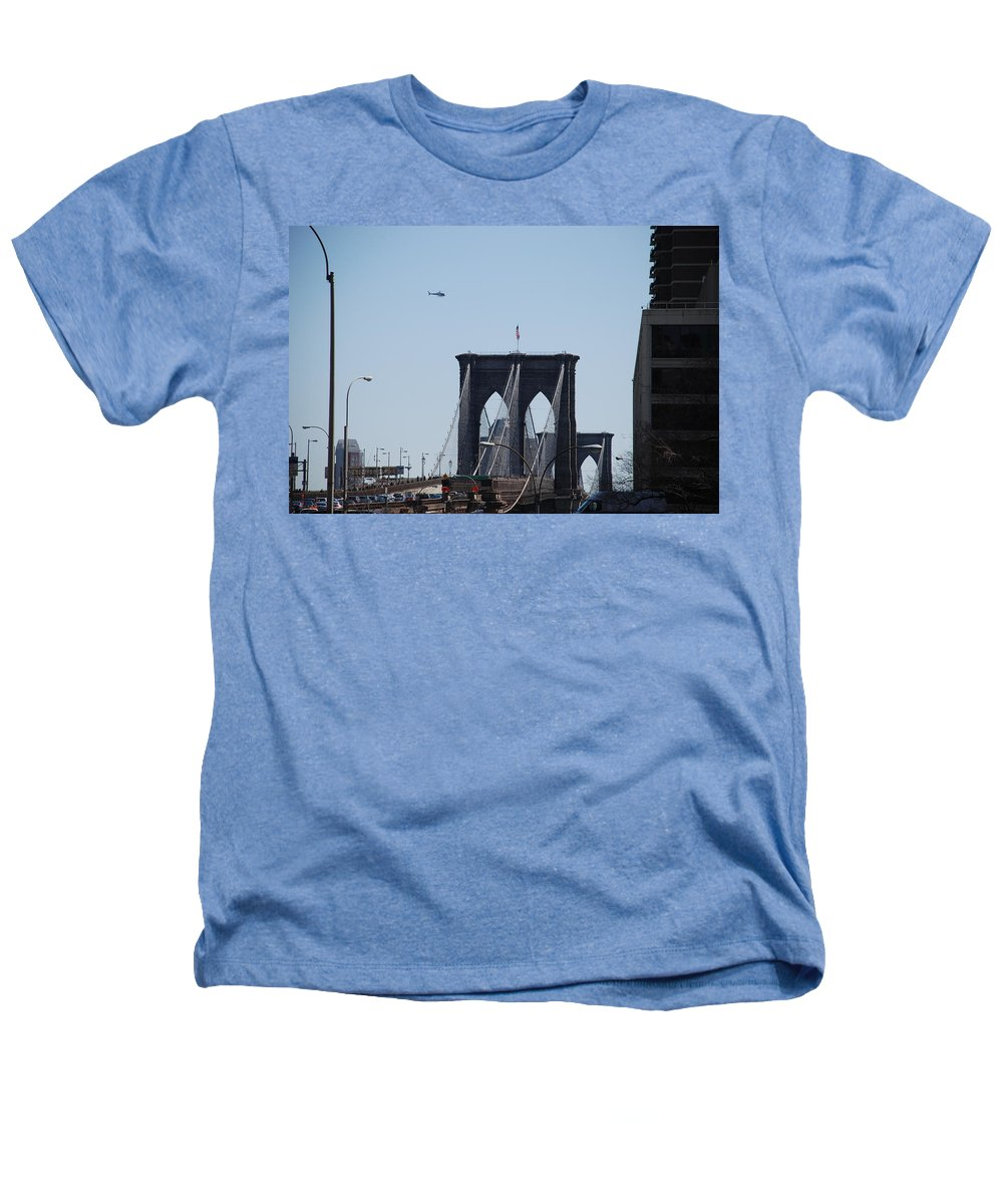 Architecture Heathers T-Shirt featuring the photograph Brooklyn Bridge by Rob Hans