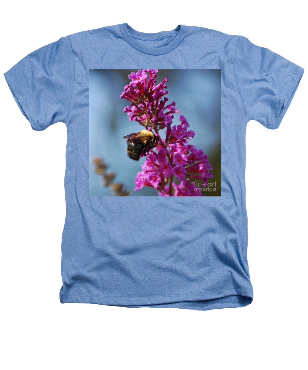 Bee Heathers T-Shirt featuring the photograph Buzzed by Debbi Granruth
