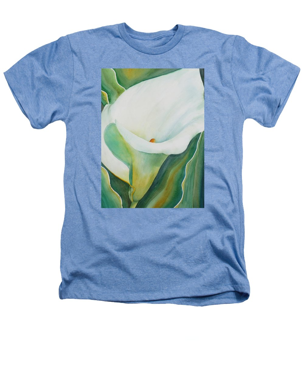 Flower Heathers T-Shirt featuring the painting Calla Lily by Ruth Kamenev