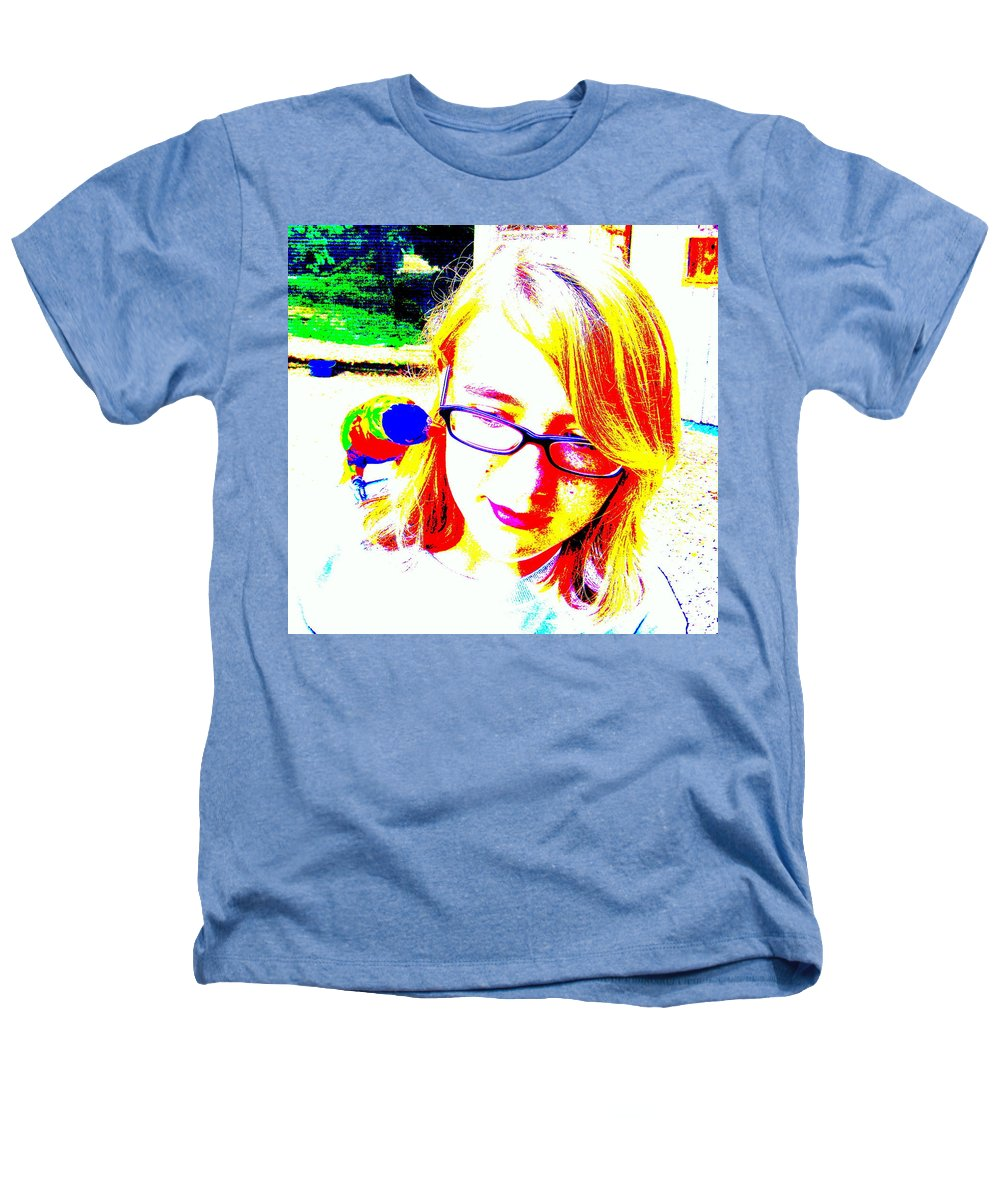 Bird Heathers T-Shirt featuring the photograph Can You Hear Me Now by Ed Smith