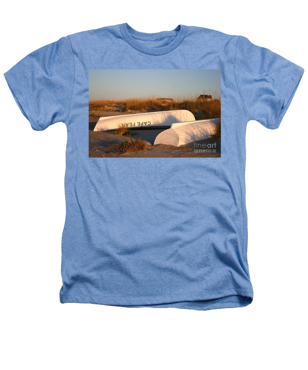 Boats Heathers T-Shirt featuring the photograph Cape Fear Boats by Nadine Rippelmeyer