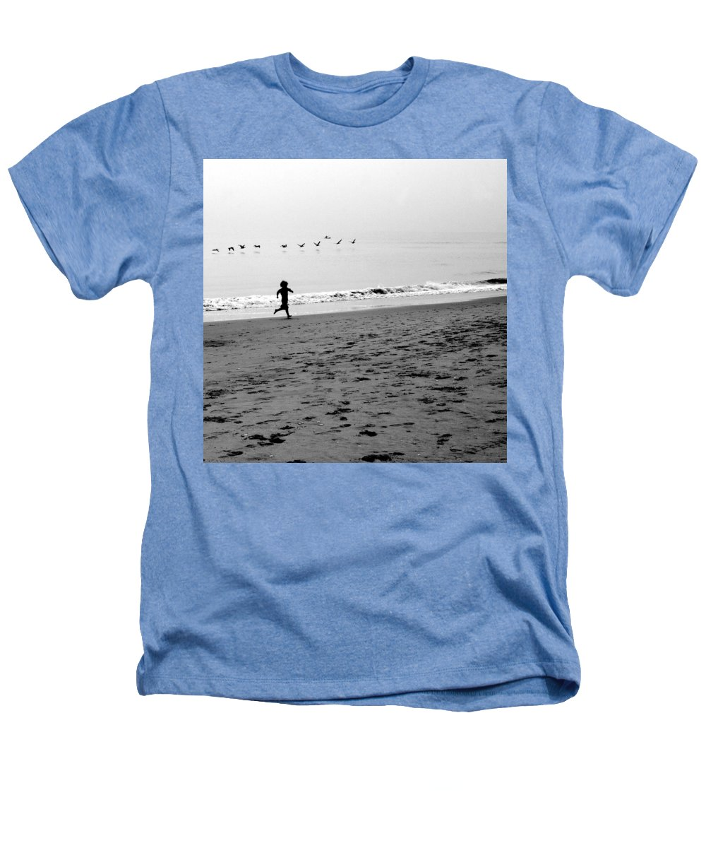 Photograph Heathers T-Shirt featuring the photograph Carefree by Jean Macaluso