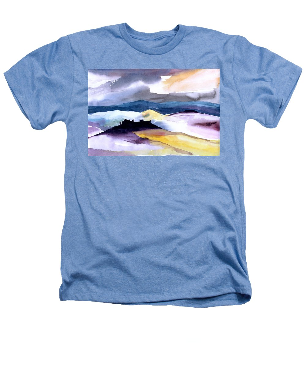 Water Heathers T-Shirt featuring the painting Castle by Anil Nene