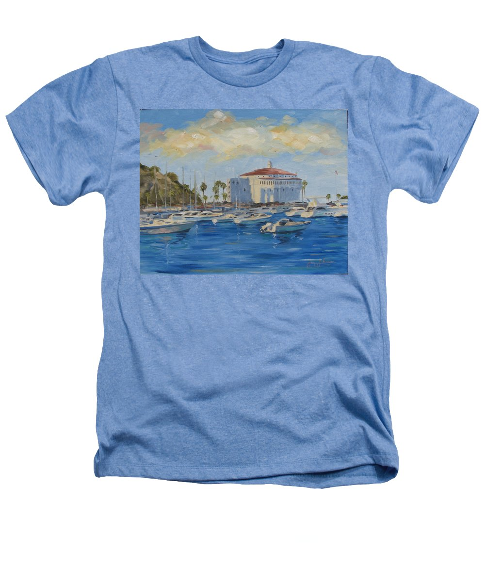 California Heathers T-Shirt featuring the painting Catallina Casino by Jay Johnson