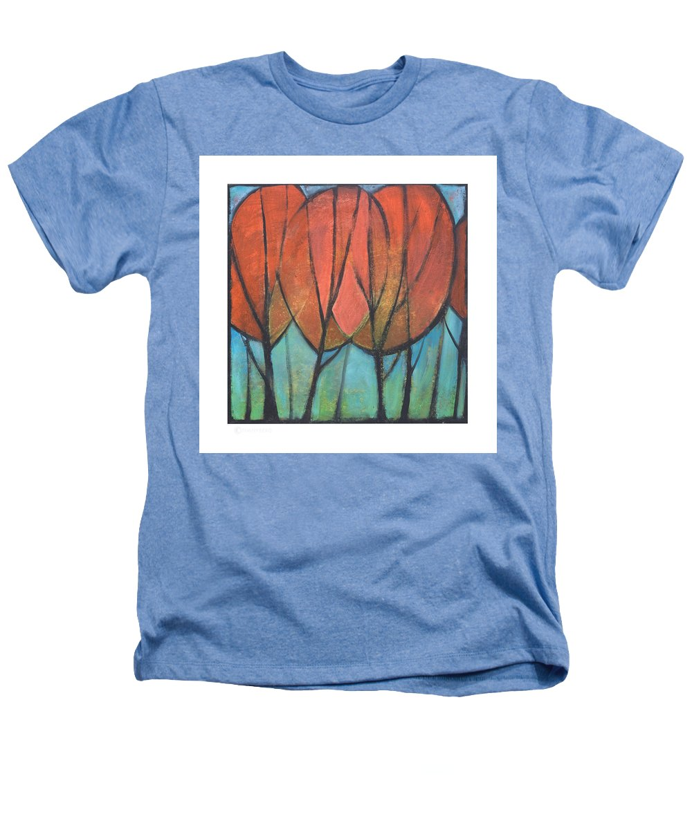 Trees Heathers T-Shirt featuring the painting Cathedral by Tim Nyberg