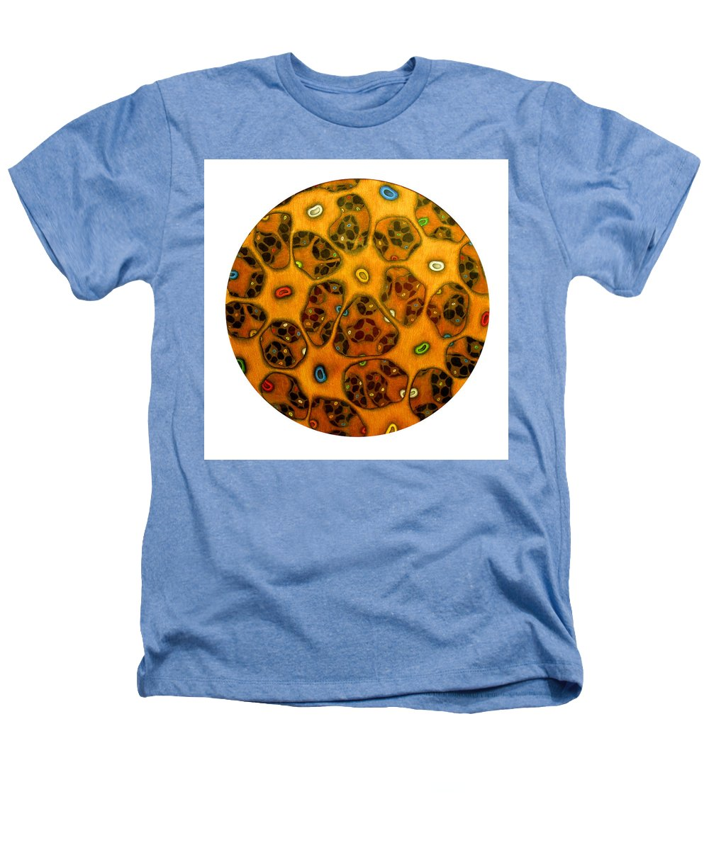 Cells Heathers T-Shirt featuring the drawing Cell Network by Nancy Mueller