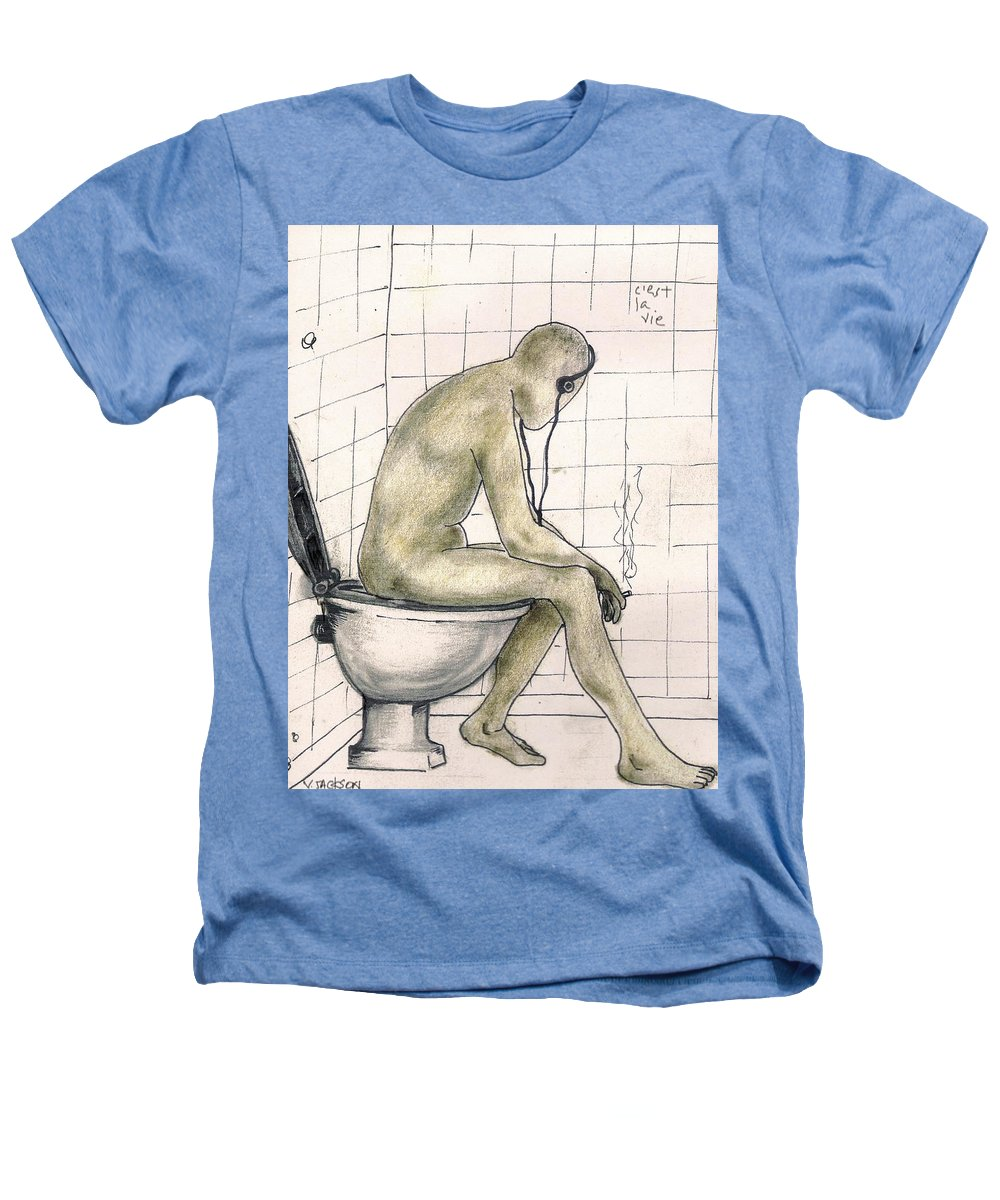 Life Naked Music Heathers T-Shirt featuring the drawing C'est La Vie by Veronica Jackson