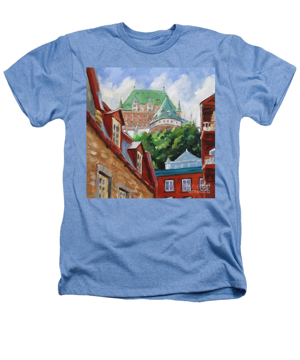 Chateau Frontenac Heathers T-Shirt featuring the painting Chateau Frontenac by Richard T Pranke