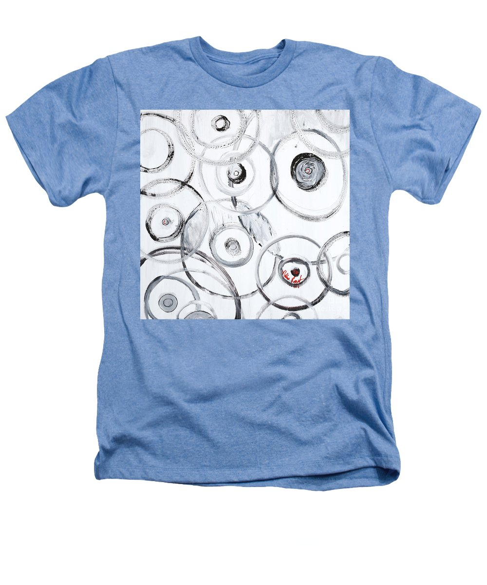 Circles Heathers T-Shirt featuring the painting Choices In White by Nadine Rippelmeyer