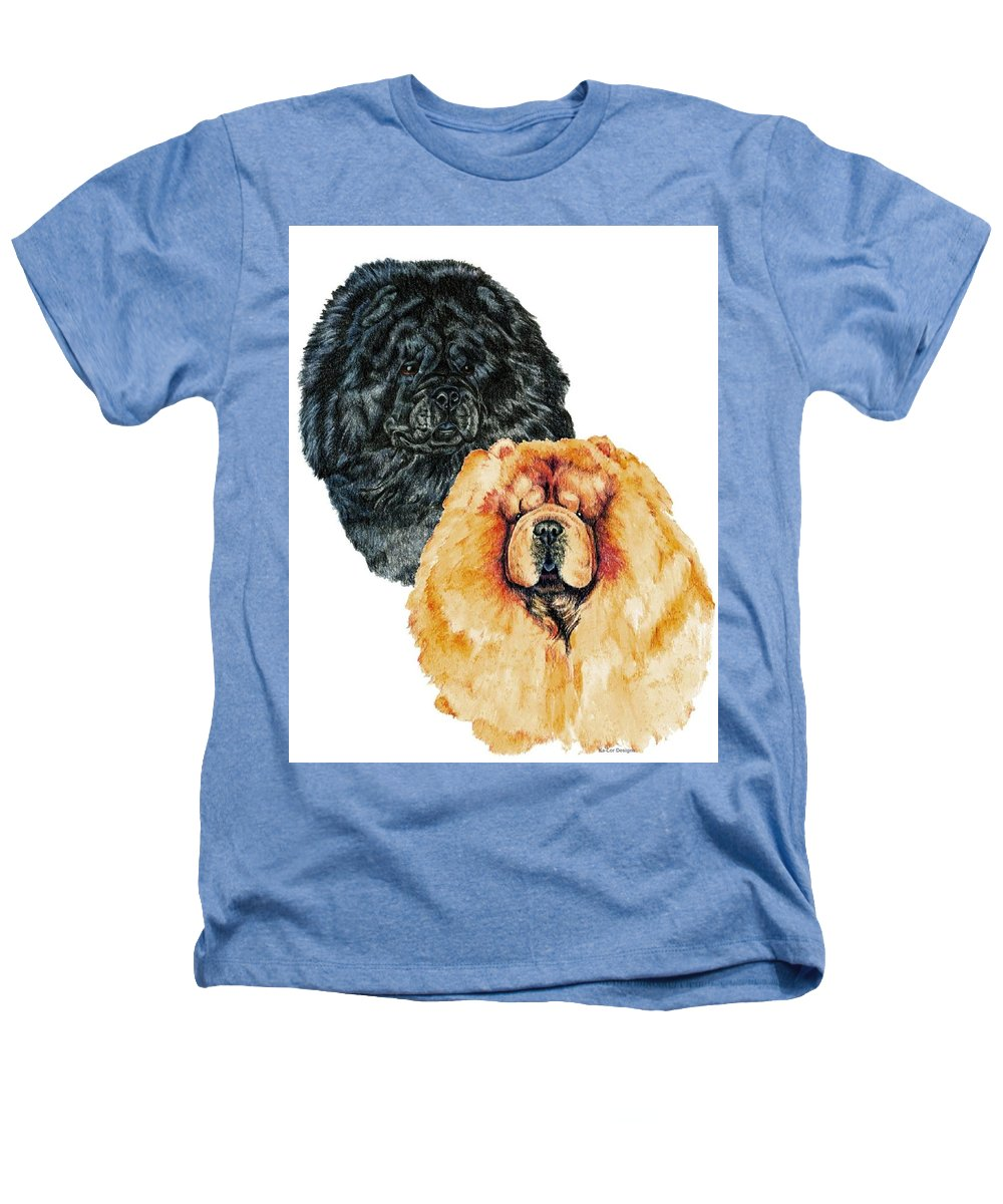 Chow Chow Heathers T-Shirt featuring the painting Chow Chows by Kathleen Sepulveda