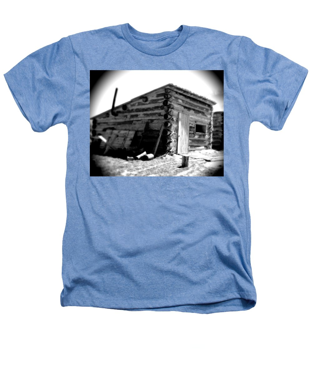 Army Heathers T-Shirt featuring the photograph Civil War Cabin 1 Army Heritage Education Center by Jean Macaluso