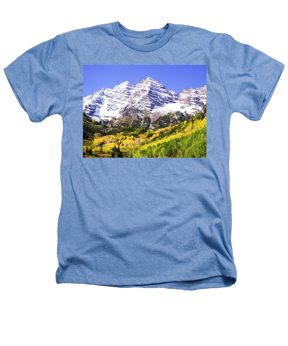 Americana Heathers T-Shirt featuring the photograph Classic Maroon Bells by Marilyn Hunt