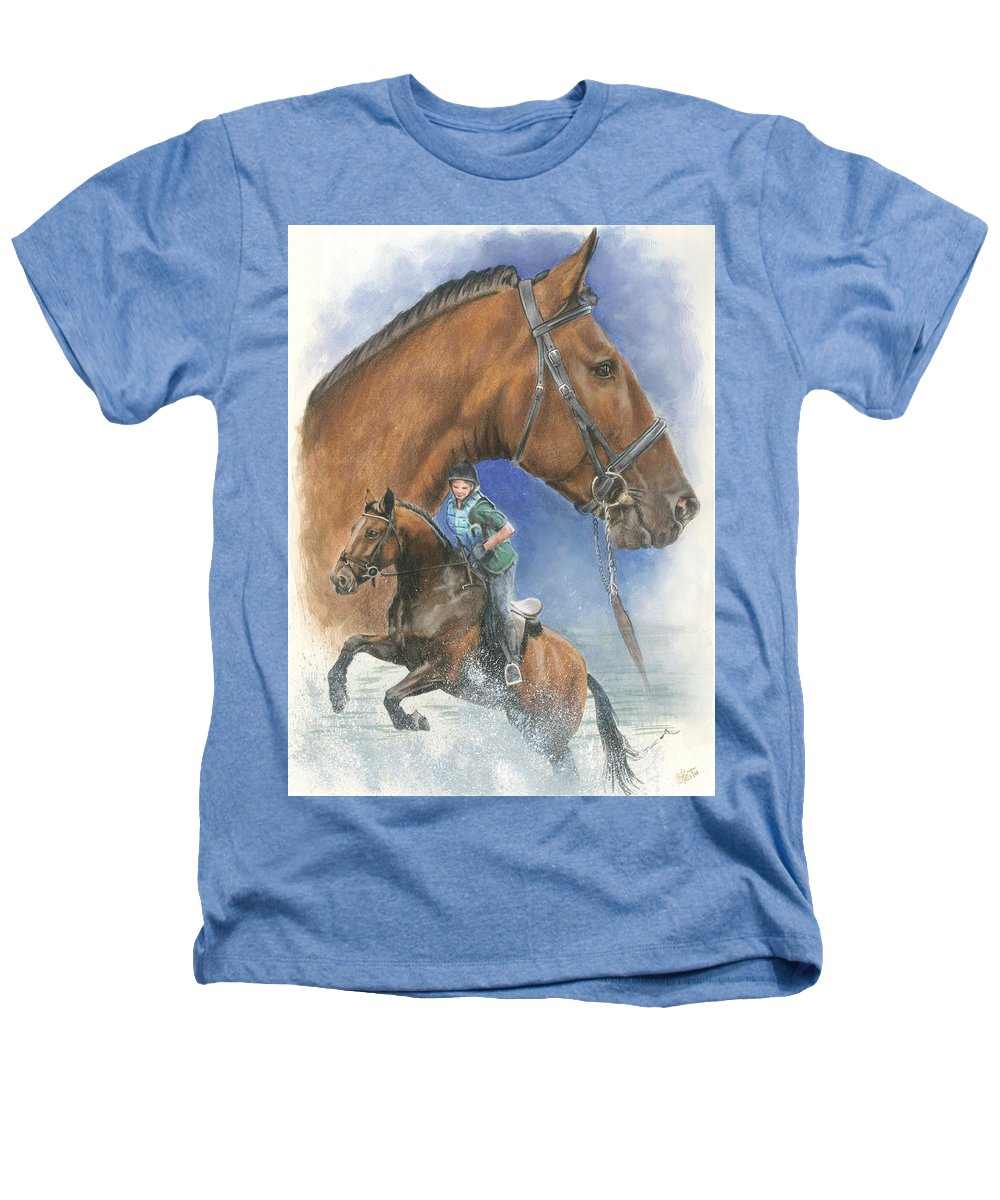 Hunter Jumper Heathers T-Shirt featuring the mixed media Cleveland Bay by Barbara Keith
