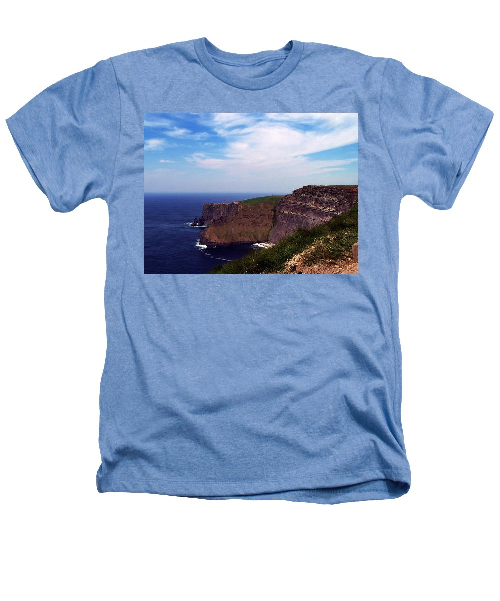 Irish Heathers T-Shirt featuring the photograph Cliffs Of Moher Aill Na Searrach Ireland by Teresa Mucha