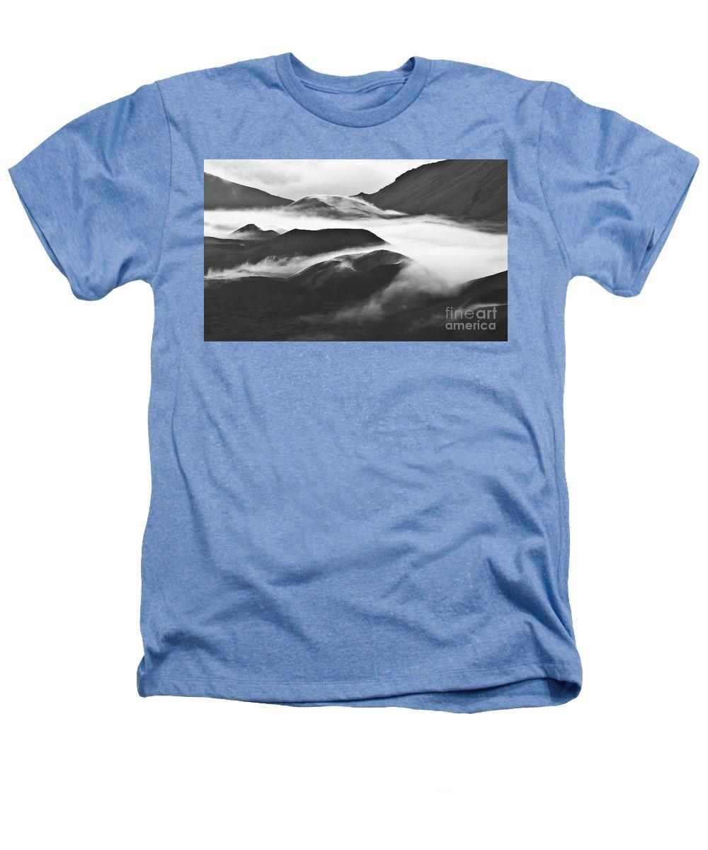 Mountains Heathers T-Shirt featuring the photograph Maui Hawaii Haleakala National Park Clouds In Haleakala Crater by Jim Cazel