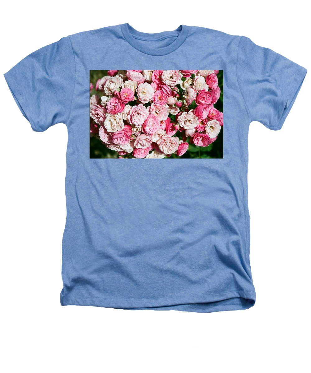 Rose Heathers T-Shirt featuring the photograph Cluster Of Roses by Dean Triolo