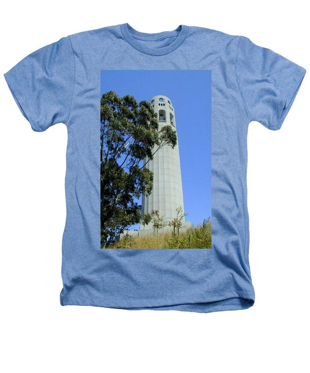 Coit Heathers T-Shirt featuring the photograph Coit Tower by Douglas Barnett