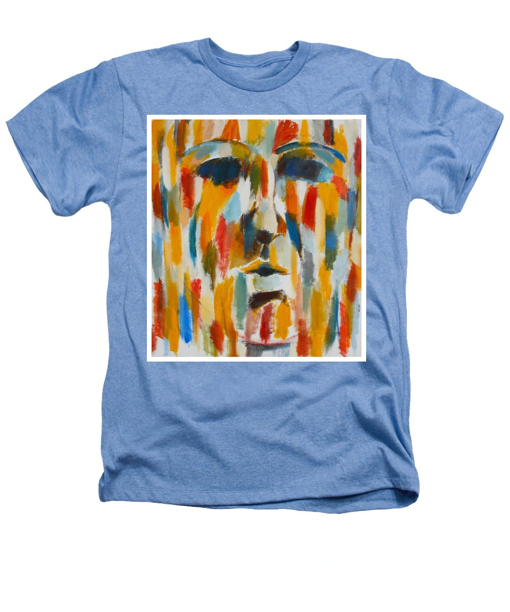 Yellow Heathers T-Shirt featuring the painting Color Blind by Habib Ayat