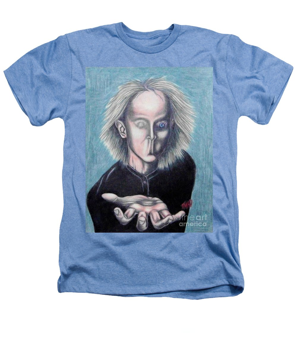 Tmad Heathers T-Shirt featuring the drawing Consciousness by Michael TMAD Finney