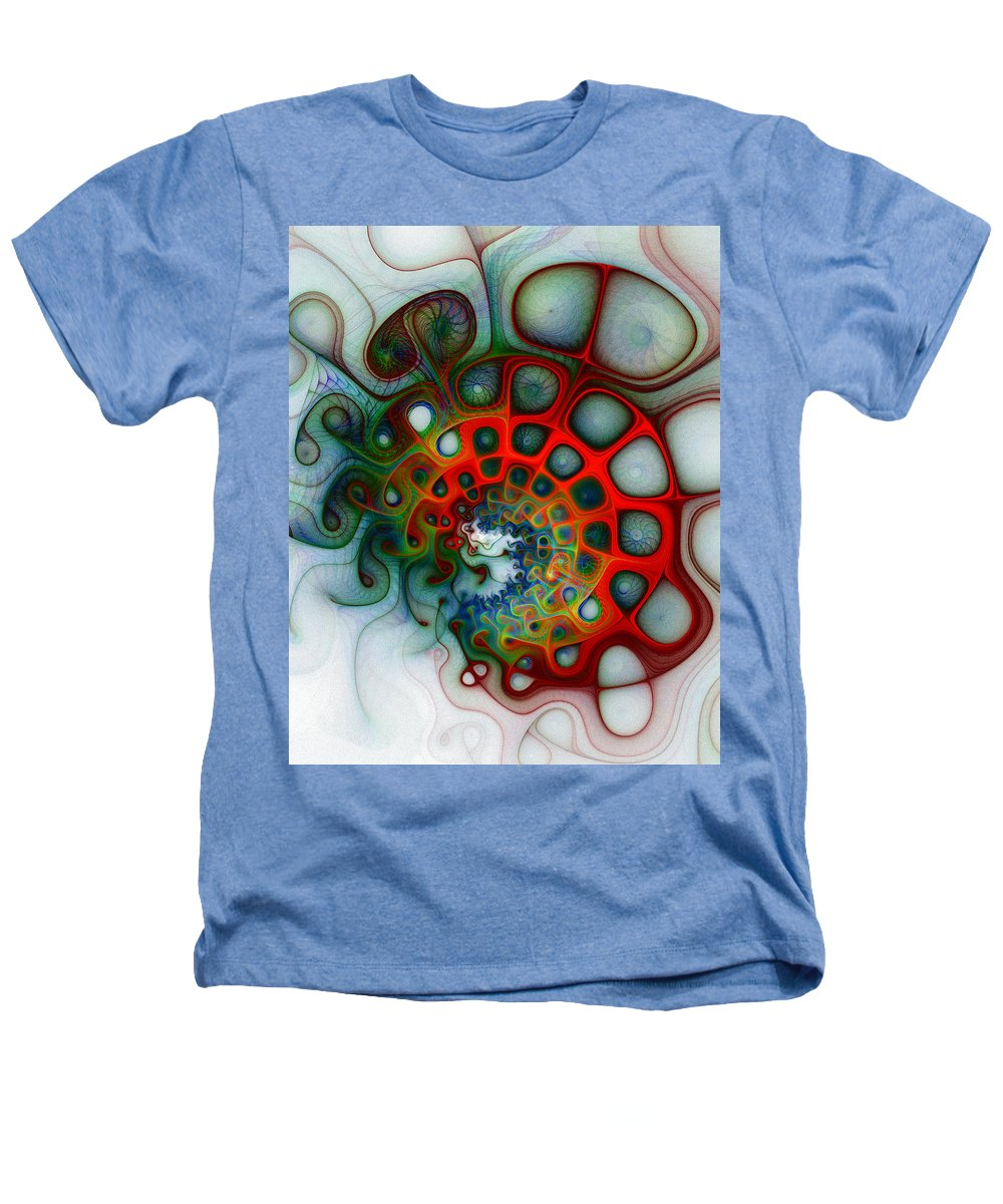 Digital Art Heathers T-Shirt featuring the digital art Convolutions by Amanda Moore