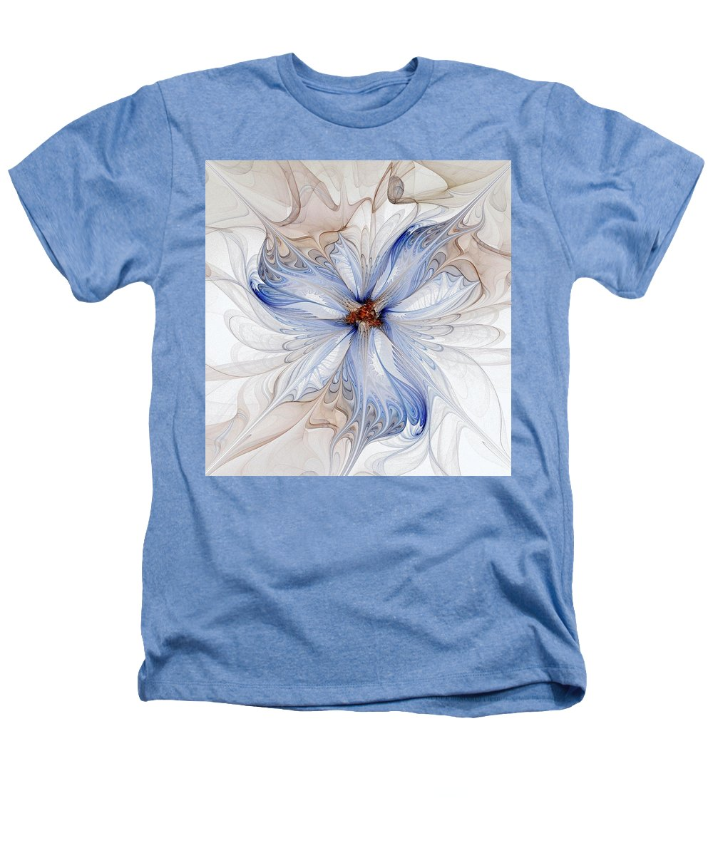 Digital Art Heathers T-Shirt featuring the digital art Cornflower Blues by Amanda Moore