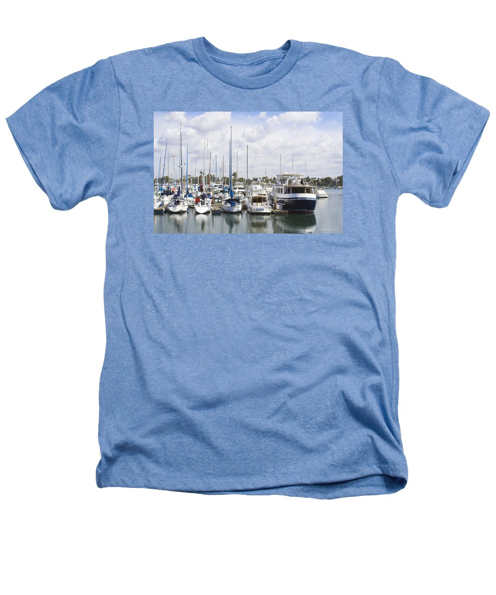 Coronado Heathers T-Shirt featuring the photograph Coronado Boats II by Margie Wildblood