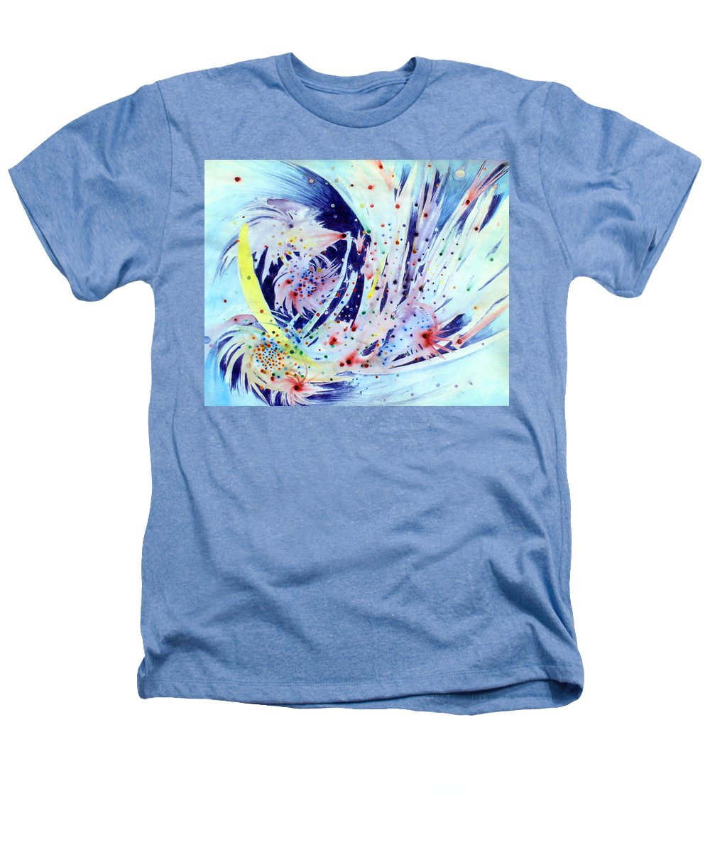 Abstract Heathers T-Shirt featuring the painting Cosmic Candy by Steve Karol
