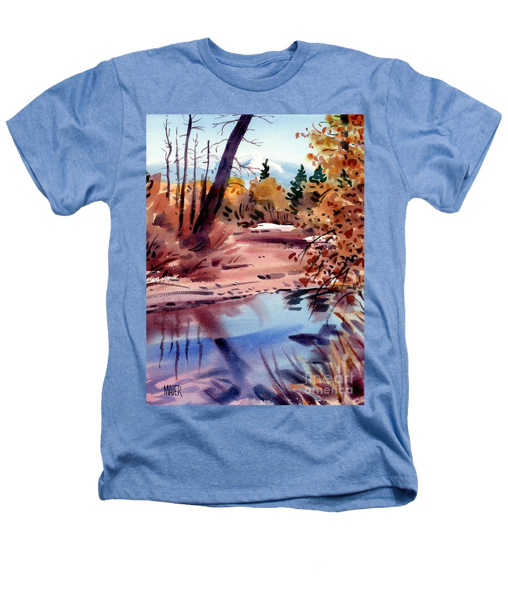 Cottonwood Trees Heathers T-Shirt featuring the painting Cottonwoods In October by Donald Maier