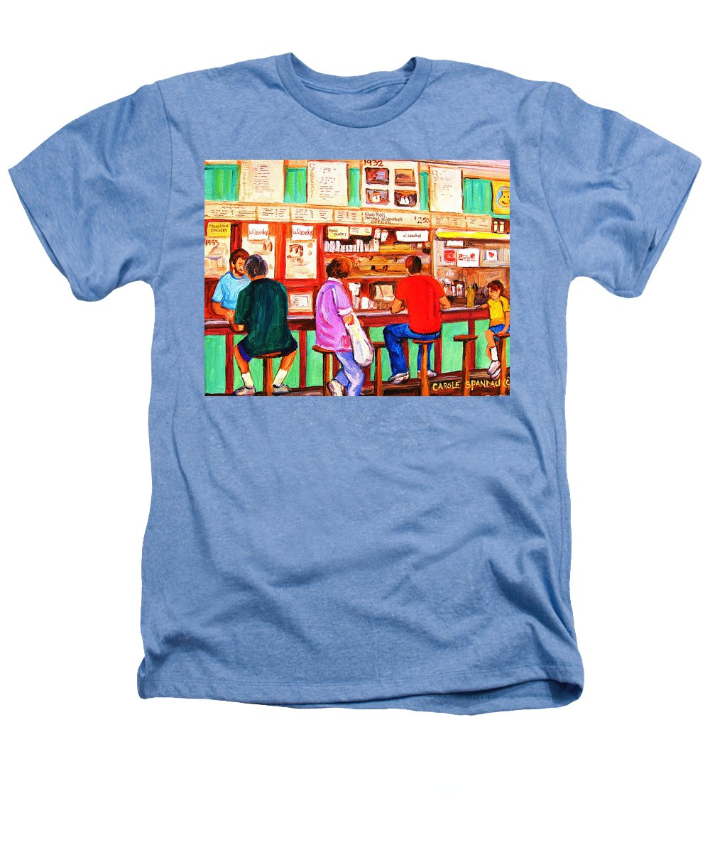 Montreal Heathers T-Shirt featuring the painting Counter Culture by Carole Spandau