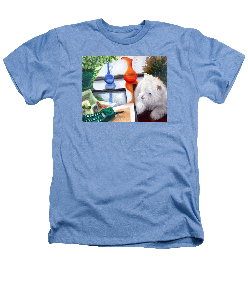 Dog Heathers T-Shirt featuring the painting Creative Reflections by Minaz Jantz